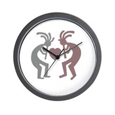 Kokopelli Valentine Wall Clock