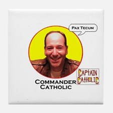 'Commander Catholic' #2 Tile Coaster