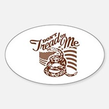 Dont Tread On in Star Sticker (Oval)