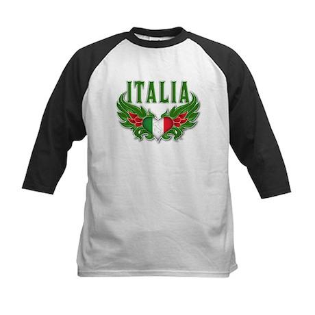 italian pride Kids Baseball Jersey