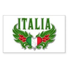 italian pride Rectangle Decal