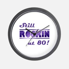 Still Rockin At 80 Wall Clock
