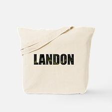 Camo Landon Tote Bag