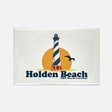 "Holden Beach NC ""Lighthouse"" Design Rectangle Magn"