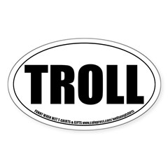 Troll Role-playing Oval Decal