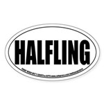 Halfling Role-playing Oval Sticker