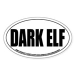 Dark Elf Role-playing Oval Sticker