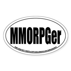 MMOPRGer Oval Decal
