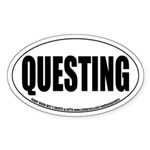 MMORPG Questing Oval Sticker