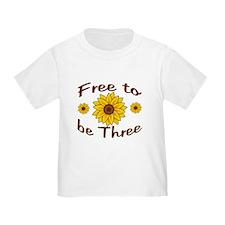 Free to Be Three Sunflowers T