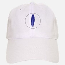 Blue Feather Baseball Baseball Cap