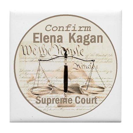 Kagan Supreme Court Tile Coaster