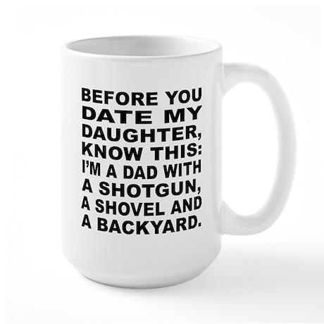 Dad Warning Large Mug