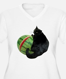 Cat with Watermelon T-Shirt