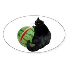 Cat with Watermelon Decal