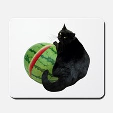 Cat with Watermelon Mousepad