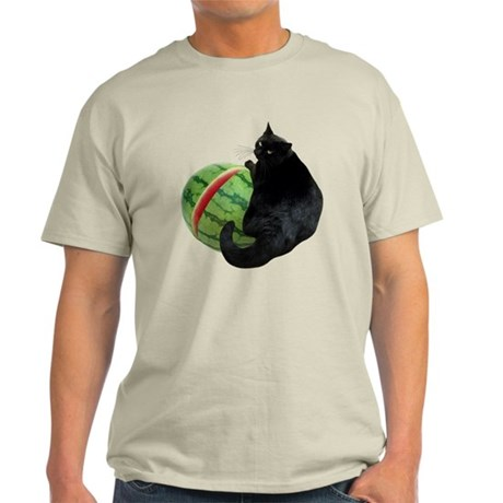 Cat with Watermelon Light T-Shirt