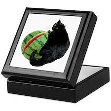 Cat with Watermelon Keepsake Box