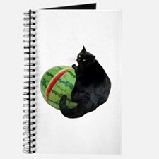 Cat with Watermelon Journal
