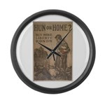 Hun or Home? Large Wall Clock