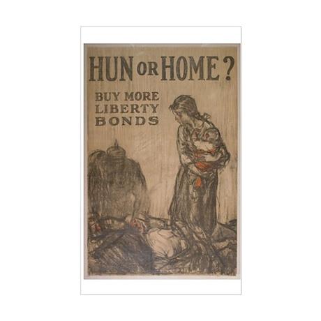 Hun or Home? Sticker (Rectangle)