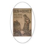 Hun or Home? Sticker (Oval 10 pk)