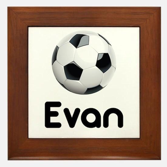 Soccer Evan Framed Tile