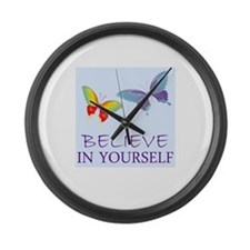 Believe In Yourself Large Wall Clock