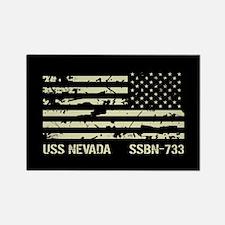 USS Nevada Rectangle Magnet