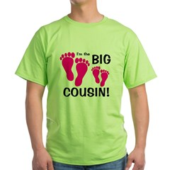 Big Cousin Baby Footprints T-Shirt