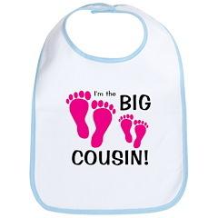 Big Cousin Baby Footprints Bib