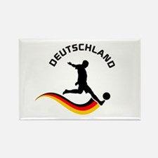 Soccer DEUTSCHLAND Player Rectangle Magnet