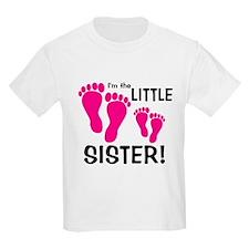 Little Sister Baby Footprints T-Shirt