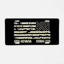 USS Nevada Aluminum License Plate