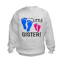 Little Sister Baby Footprints Sweatshirt