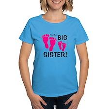 Big Sister Baby Footprints Tee