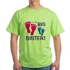 Big Sister Baby Footprints T-Shirt