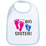 Big Sister Baby Footprints Bib