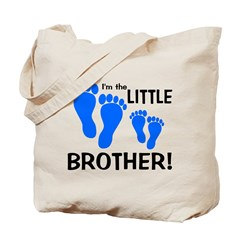 Little Brother Baby Footprint Tote Bag