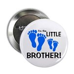 "Little Brother Baby Footprint 2.25"" Button"