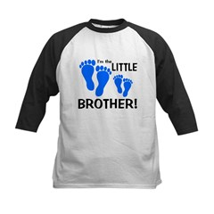 Little Brother Baby Footprint Kids Baseball Jersey