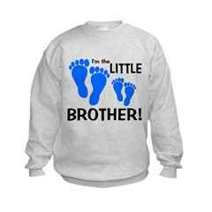 Little Brother Baby Footprint Sweatshirt