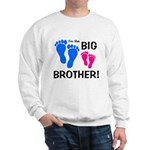 Big Brother Baby Footprints Sweatshirt