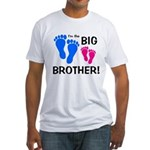 Big Brother Baby Footprints Fitted T-Shirt