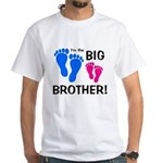 Big Brother Baby Footprints White T-Shirt