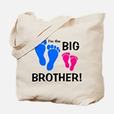 Big Brother Baby Footprints Tote Bag