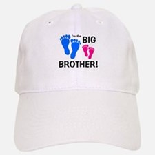 Big Brother Baby Footprints Baseball Baseball Cap