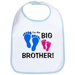 Big Brother Baby Footprints Bib