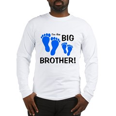 Big Brother Baby Footprints Long Sleeve T-Shirt