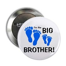 """Big Brother Baby Footprints 2.25"""" Button"""